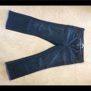 Banana Republic frayed edge ankle length jeans.